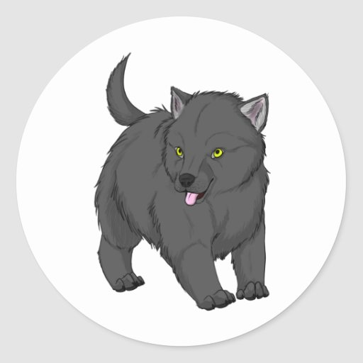 MWCA Gray Wolf Pup Merchandise Stickers