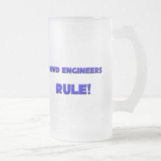 Mwd Engineers Rule! 16 Oz Frosted Glass Beer Mug