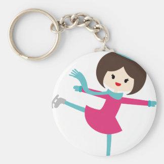 MWinterSkatersP2 Basic Round Button Keychain