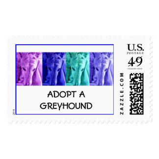 Mx4 design ADOPT A GREYHOUND postage stamps