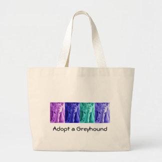 Mx4 design Adopt a Greyhound tote Canvas Bags