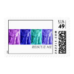 Mx4 design  RESCUE ME postage stamp