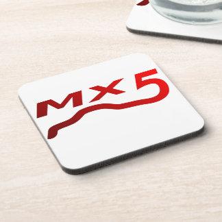 MX5 mat red logo Coaster