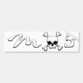 MX5 skull Car Bumper Sticker