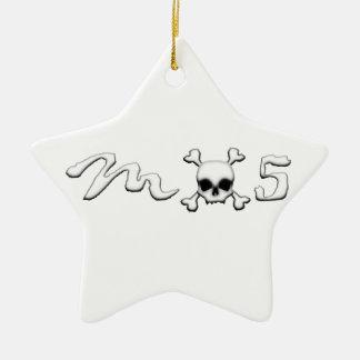 MX5 skull Ceramic Ornament