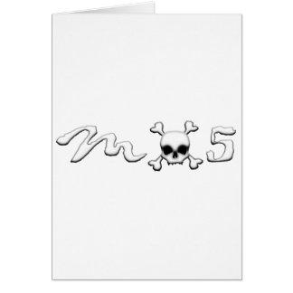 MX5 skull Greeting Card