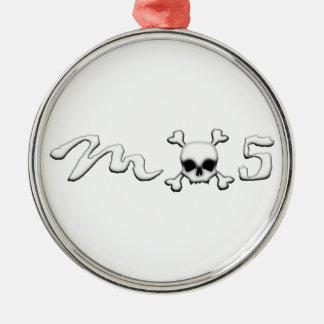 MX5 skull Metal Ornament