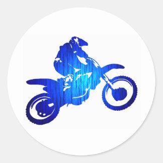MX BLUE BEAT CLASSIC ROUND STICKER