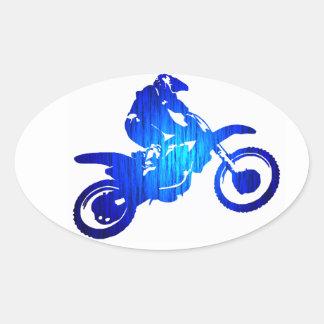 MX BLUE BEAT OVAL STICKER