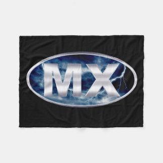 MX Chrome Motocross Fleece Blanket