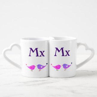Mx & Mx lovebirds Coffee Mug Set
