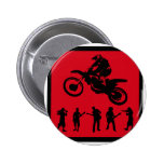 MX RED RIDERS PINBACK BUTTON
