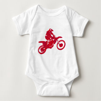 MX RED STYLED BABY BODYSUIT