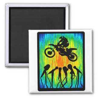 MX THE FORK 2 INCH SQUARE MAGNET