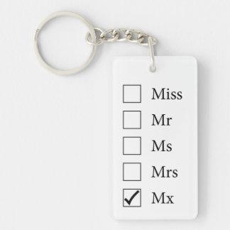 Mx Title (Five Options) Keychain