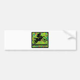 MX Whip Style Bumper Sticker