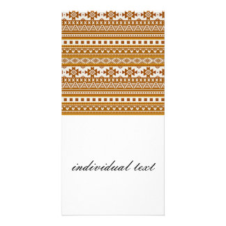 mxed borders golden personalized photo card