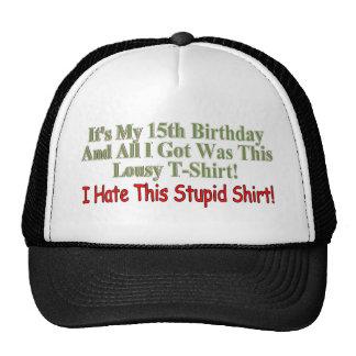 My 15th Birthday Gifts Trucker Hat