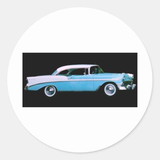 My 1956 belair hardtop classic round sticker