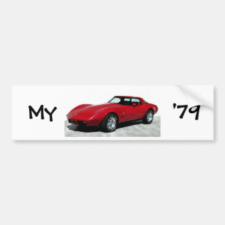 My 1979 Red Corvette Bumper Sticker