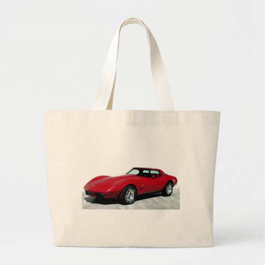 My 1979 Red Corvette Large Tote Bag