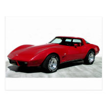 My 1979 Red Corvette Postcard