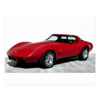 My 1979 Red Corvette Postcard