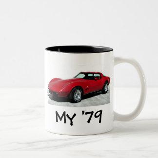 My 1979 Red Corvette Two-Tone Coffee Mug