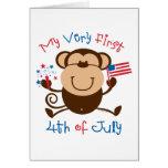 My 1st 4th Boy Monkey Card