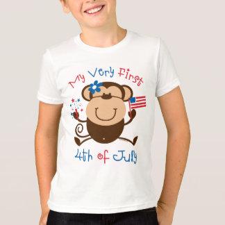 My 1st 4th Girl Monkey Kids T-shirt