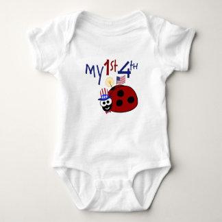 My 1st 4th Ladybug Baby Bodysuit