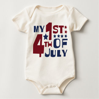 My 1st 4th of July Baby Bodysuit