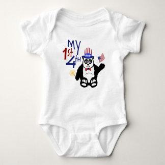 My 1st 4th Panda Baby Bodysuit