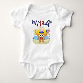 My 1st 4th Starfish Baby Bodysuit