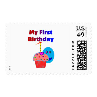My 1st birthday--Gift Ideas and T-Shirts for Babie Postage Stamp