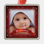 My 1st Christmas! - Add your photo! Metal Ornament