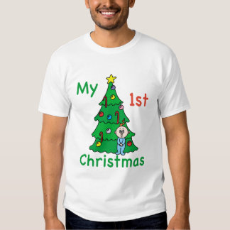 My 1st Christmas Baby Clothes Shirt