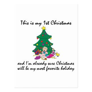 My 1st Christmas Gift Postcard