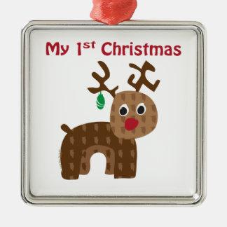 My 1st Christmas Metal Ornament