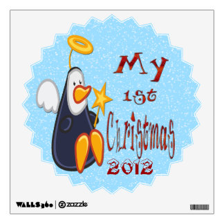 My 1st Christmas - Penguin Angel Wall Decal