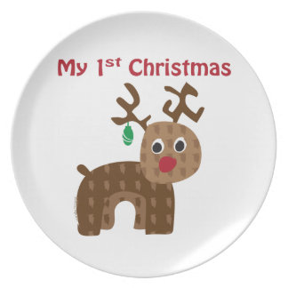 My 1st Christmas Plate