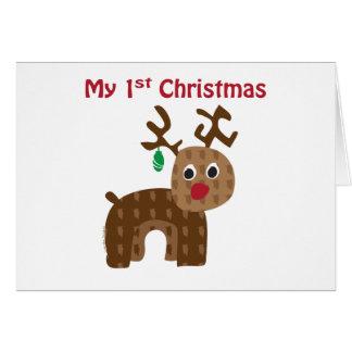 My 1st Christmas - Reindeer Card