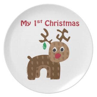 My 1st Christmas - Reindeer Dinner Plate