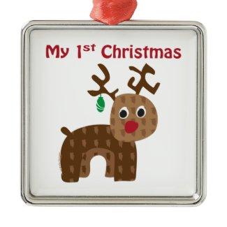 My 1st Christmas - Reindeer Christmas Tree Ornament
