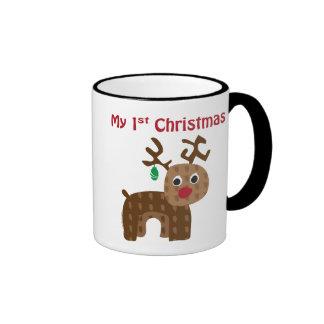 My 1st Christmas Ringer Mug
