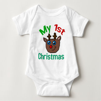 My 1st Christmas Rudolph Baby Clothes Baby Bodysuit