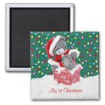 My 1st Christmas - Santa Teddy Bear Magnet