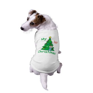 My 1st Christmas Shirt for Dogs Pet T-shirt