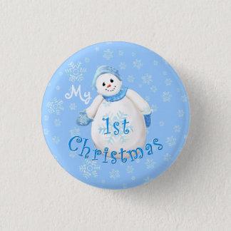 My 1st Christmas Snowman Button