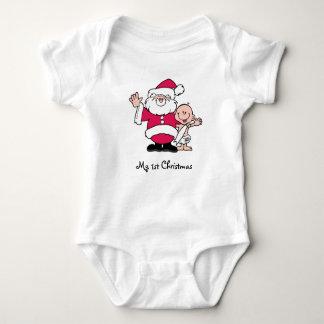 My 1st Christmas with Santa Baby Bodysuit
